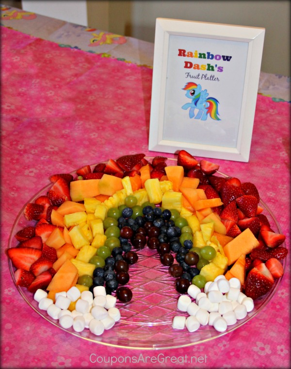 my little pony party rainbow dash fruit tray