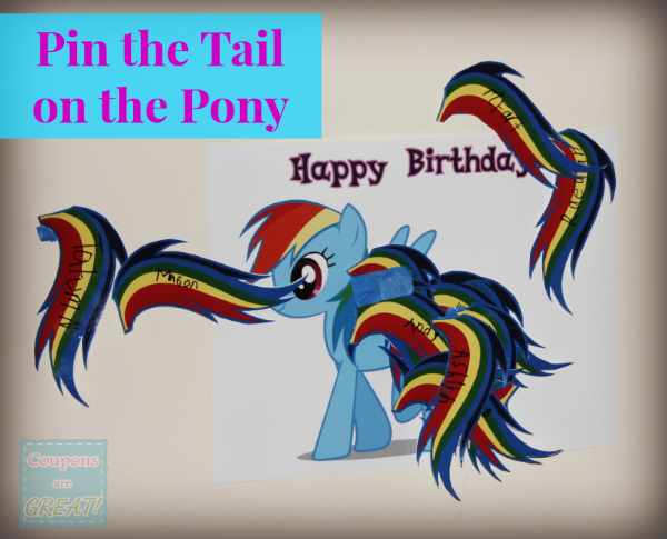 pin the tail on the pony my little pony party idea