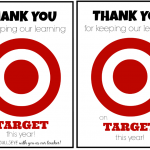 Teacher Appreciation Gift Idea: Target Gift Card Teacher Appreciation Printable