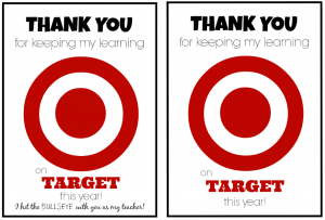 target gift card teacher appreciation from student