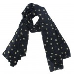 black fashion scarf