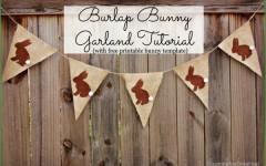 Burlap Bunny Garland Tutorial