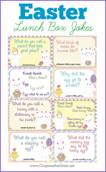 picture regarding Lunch Box Jokes Printable known as Printable Easter Lunch Box Notes Making use of Easter Jokes for Children