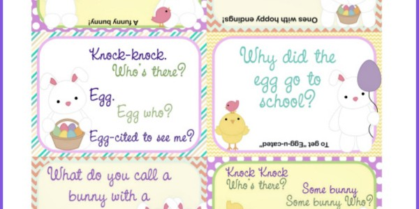 Printable Easter Lunch Box Notes Using Easter Jokes for Kids
