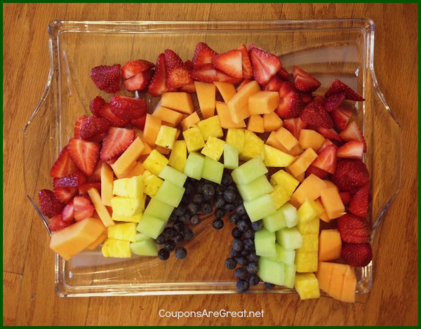 fruit rainbow platter