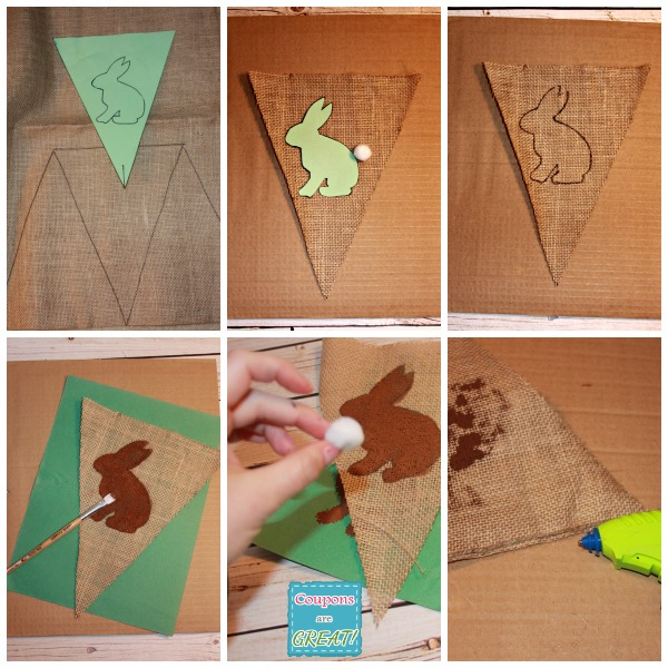 how to make a burlap bunny banner