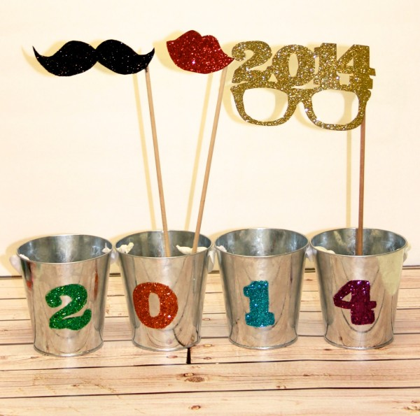 2014 photo booth props glitter tins