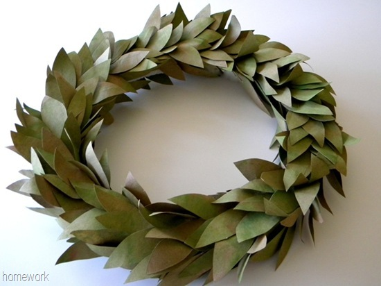 earth day craft 4 brown bag wreath