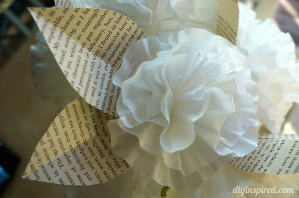earth day craft coffee paper filter flower