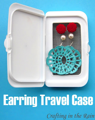 earth day craft earring travel case