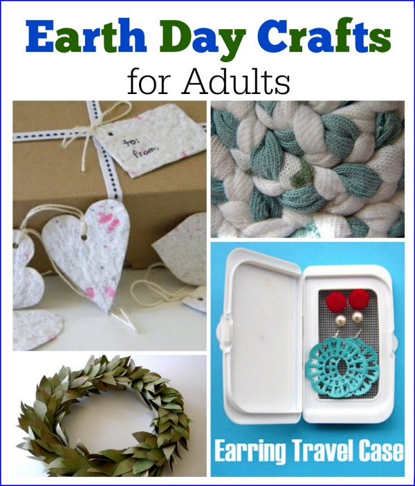 These Earth Day crafts are perfect for adults. Upcycling old products is so much fun!
