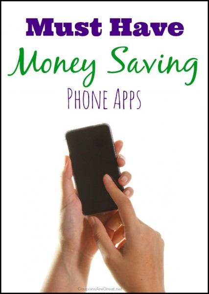 Get cash back on items you are buying at the store. Here is a list of must have money saving phone apps that will save you money!