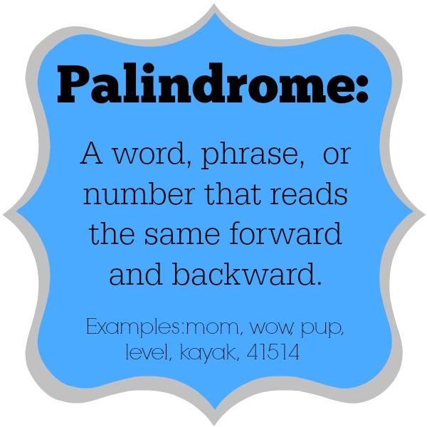 palindrome definition