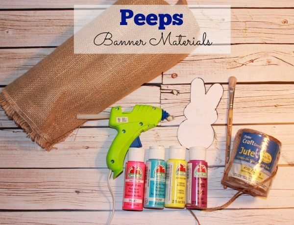 Making a peeps banner requires only these things!