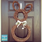 spring bunny wreath for easter