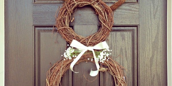 Easter Craft: Easy Bunny Door Wreath Craft