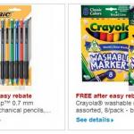 staples free crayola free bic