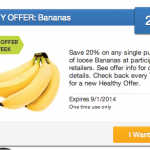 Healthy SavingStar Offer: Save on Bananas