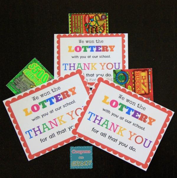 Teacher Appreciation Idea: Lottery Tickets