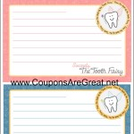 from the desk of the tooth fairy printable letterhead