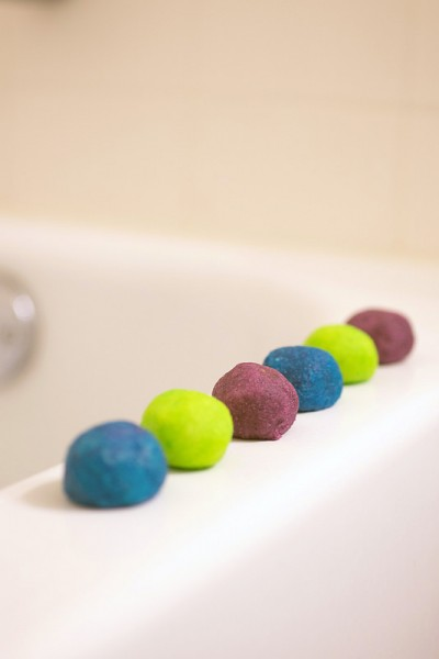 science for kids bath fizzies
