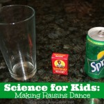 science for kids making raisins dance