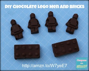 chocolate lego men and bricks