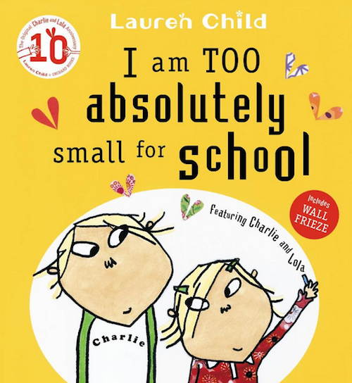 i am absolutely too small for school book