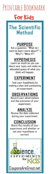 scientific method bookmark