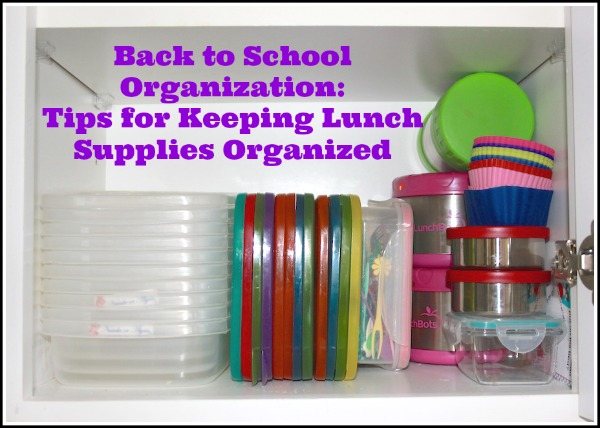 Organizing your school lunch supplies is as easy as THIS.