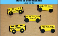 Back to School Snack: Candy Bar Bus