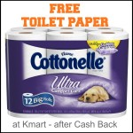 Free Cottonelle Ultra Toilet Paper at Kmart after Cash Back