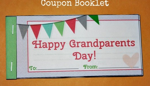Homemade Grandparents Day Gift Idea: Printable Grandparents Day Coupon Book