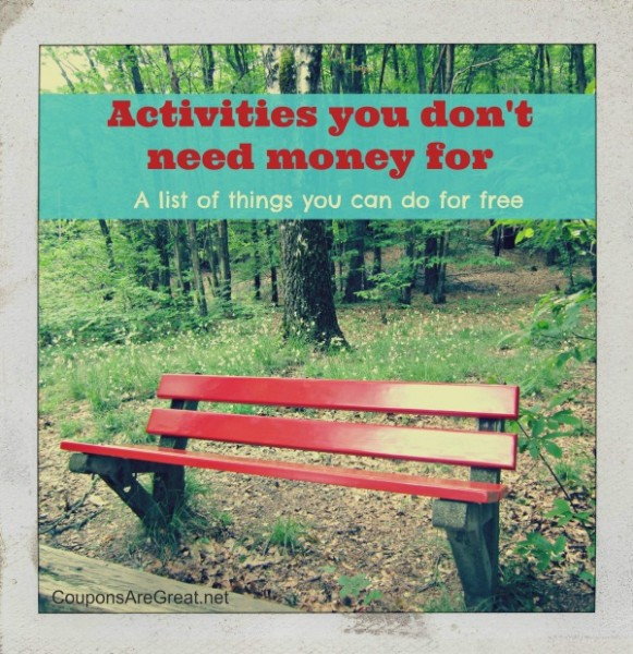 activities you don't need money for