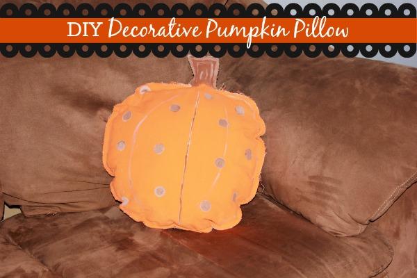 diy decorative pumpkin pillow