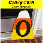 halloween candy corn door wreath