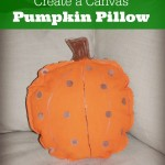 DIY Canvas Pumpkin Pillow Decoration
