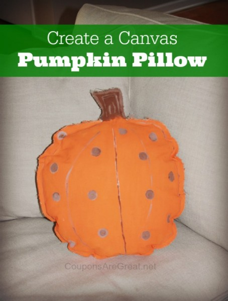 Learn how to make canvas pumpkin pillows with this DIY tutorial. It's so easy!