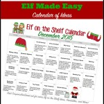 easy elf ideas printable elf calendar 2015