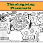 These printable Thanksgiving placemats for kids are the perfect dinner activity!