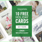tiny prints free holiday cards