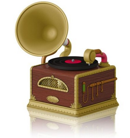 Santas Merry Phonograph Keepsake Ornament