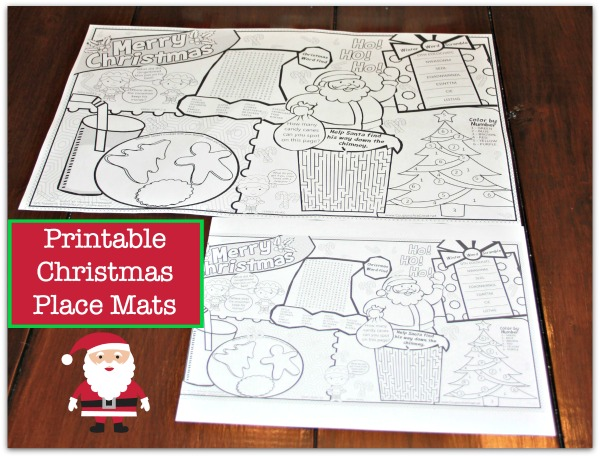 christmas place mats printable