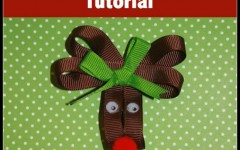 Reindeer Hair Bow Tutorial