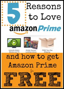Amazon Prime offers so many wonderful things. Holiday shopping is made even easier with free shipping. Boredom is busted with movies and kindle books. Try it for free today!