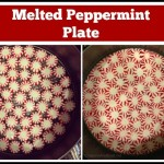 Quick Melted Peppermint Plate