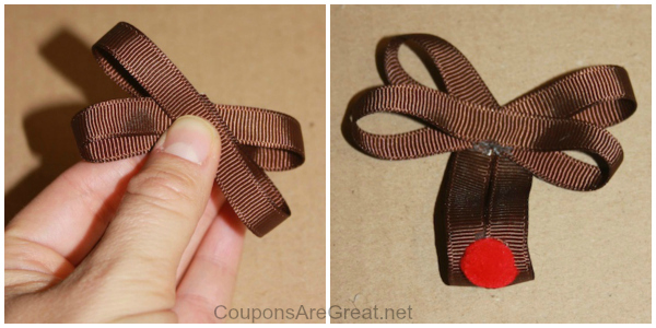 rudolph hair bow instructions