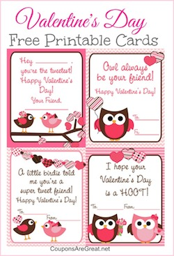 "Owl Valentine's Day cards because ""Owl always be your friend."""