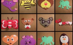Heart Shaped Animals: Construction Paper Crafts Perfect for Valentine's Day