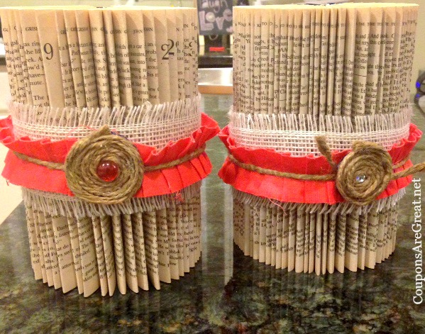 These folded books make a great teacher appreciation gift